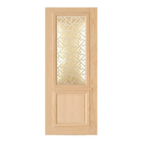 D2D ประตูไม้สนนิวซีแลนด์ ขนาด 80x200 cm. 603