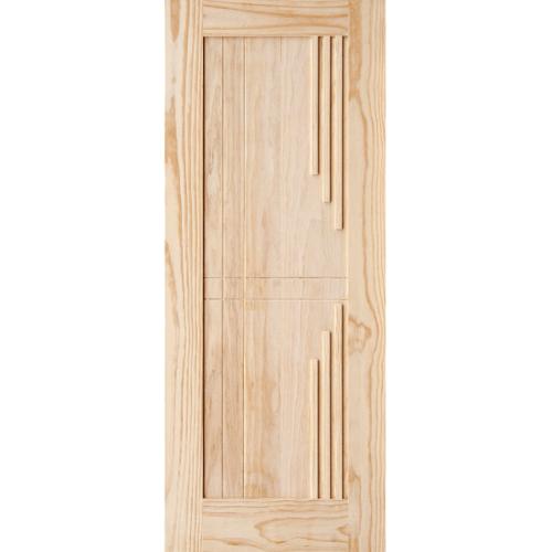 D2D ประตูไม้สนนิวซีแลนด์ ขนาด80cm.x200cm.  514