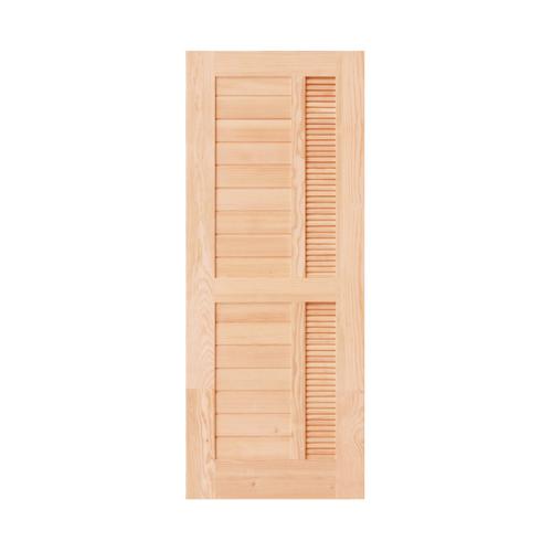 - ประตูไม้ดักลาสเฟอร์ ขนาด 70x200 cm.  Eco Pine-019