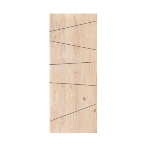 D2D ประตูไม้สนนิวซีแลนด์ ขนาด 90x220 cm. 512