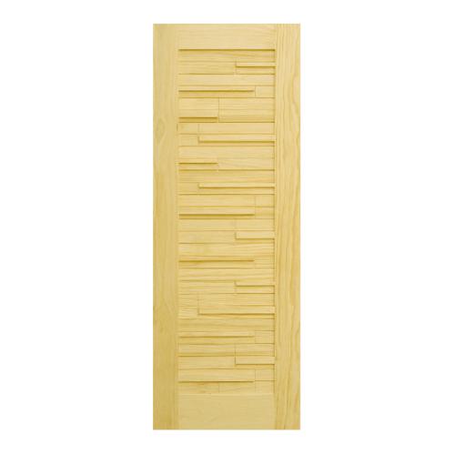 D2D ประตูไม้สนนิวซีแลนด์  ขนาด  96x246 cm. 501
