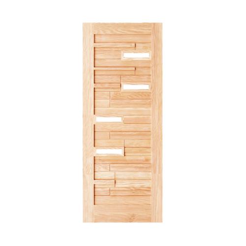 D2D ประตูไม้ดักลาสเฟอร์ ขนาด 90x200 cm.  Eco Pine-034 Plus