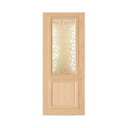 D2D ประตูไม้สนนิวซีแลนด์ ขนาด 90x200 cm. 603