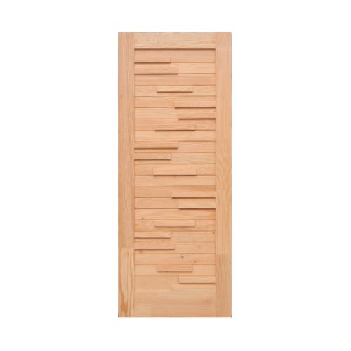 D2D ประตูไม้ดักลาสเฟอร์  ขนาด 80x200 cm. Eco Pine-033
