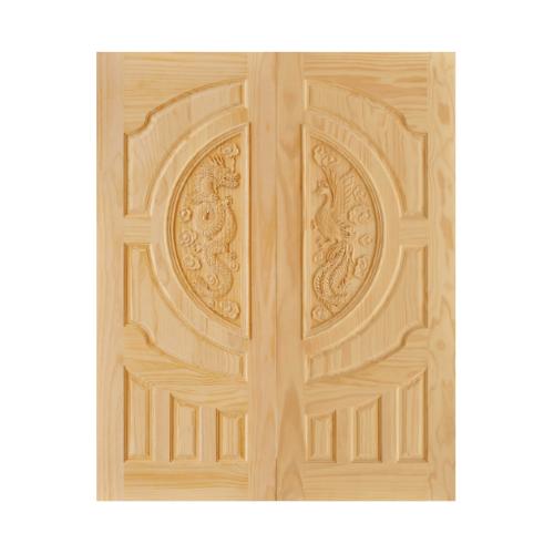 D2D ประตูไม้สนนิวซีแลนด์ ขนาด 80x200 cm. 212