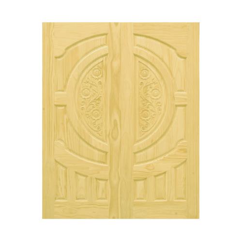 D2D ประตูไม้สนNz บานทึบลูกฟักแกะลาย ขนาด 80 x 200cm. D2D-206