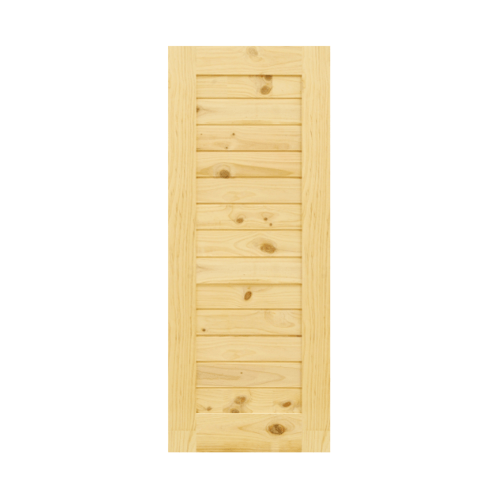 D2D ประตูไม้สนNz บานทึบทำร่อง ขนาด 70 x 220 cm. Eco Pine -001