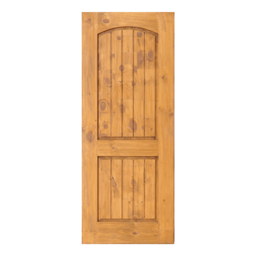 D2D ประตูไม้สนNz บานทึบลูกฟักทำร่อง ขนาด 80 x 200 cm. สีเบรินแอช  Eco Pine-008