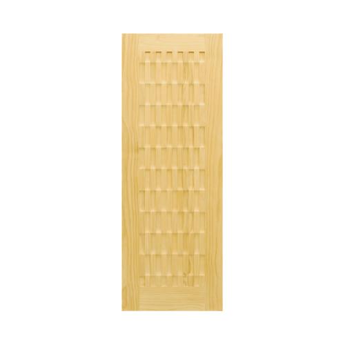 D2D ประตูไม้สนNz บานทึบทำร่อง 80x200cm.  D2D-506