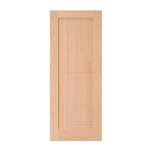 D2D ประตูไม้ดักลาสเฟอร์ บานทึบทำร่อง ขนาด 90x200cm. D2D-307