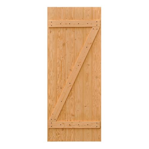 D2D ประตูไม้ดักลาสเฟอร์ บานทึบทำร่อง (โรงนา)ขนาด110x200cm.  Eco Pine-55