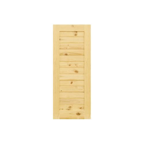 D2D ประตูไม้สนนิวซีแลนด์ บานทึบทำร่อง ขนาด40x200cm. Eco Pine-001