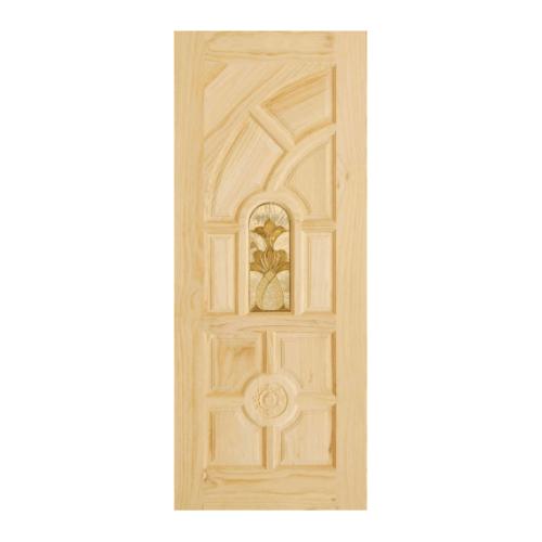 D2D ประตูไม้สนNz ลูกฟักพร้อมกระจก ขนาด 70 x 200cm. D2D-416