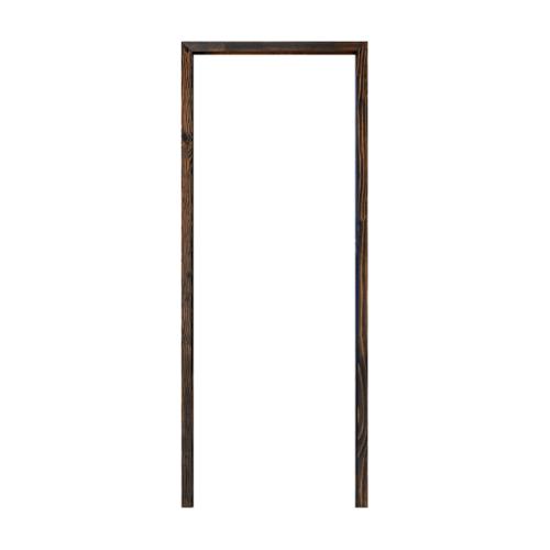 D2D วงกบประตูไม้ดักลาสเฟอร์  FJ COM.1 80x200cm. สีแบล็คแอช