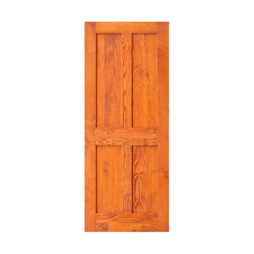 D2D ประตูไม้ดักลาสเฟอร์ บานทึบทำร่อง ขนาด 80x200cm. สีเบรินเรด  Eco Ezero 4