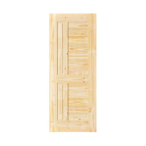 D2D ประตูไม้สนNz บานทึบลูกฟักทำร่อง ขนาด 80x200cm.  Eco Pine-007
