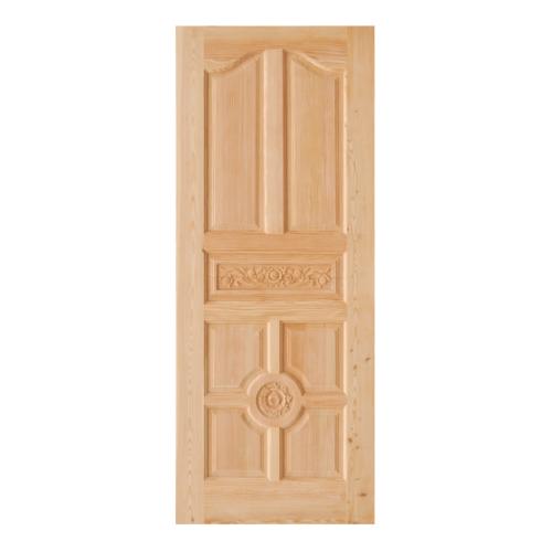 D2D ประตูไม้ดักลาสเฟอร์ บานทึบลูกฟักแกะลาย  90x200cm.  Eco Pine-048