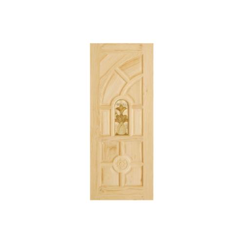 D2D ประตูไม้สนNz ลูกฟักพร้อมกระจก  100x200cm.  D2D-416