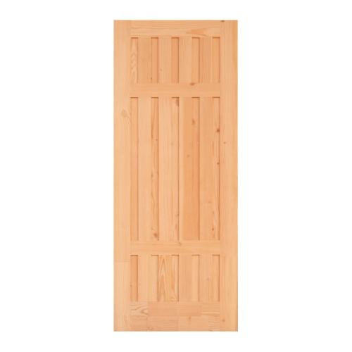 D2D ประตูไม้ดักลาสเฟอร์ บานทึบทำร่อง 100x215cm.   Eco Pine-027