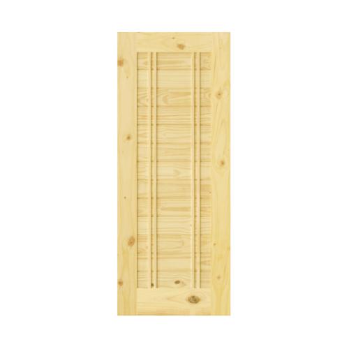 D2D ประตูไม้สนนิวซีแลนด์ ขนาด  90x180cm.  Eco Ezero 6