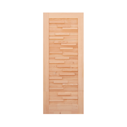 D2D ประตูไม้ดักลาสเฟอร์ บานทึบทำร่อง ขนาด 70x180cm Eco Pine-030