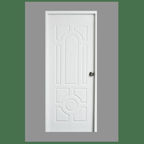 PROFESSIONAL DOOR ประตูเหล็ก ขนาด 80x200ซม.  H1W-1 (เจาะรู 2ลูกบิด) สีขาว