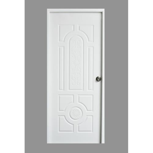 PROFESSIONAL DOOR บานประตูเหล็กขนาด 80x200cm. H1W สีขาว