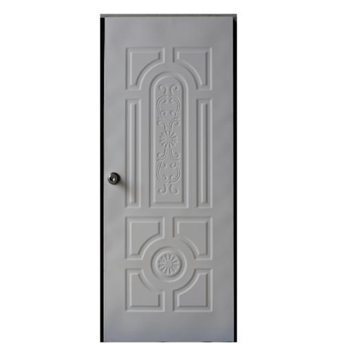 - บานประตูเหล็ก ขนาด 90x200cm. H2W สีขาว