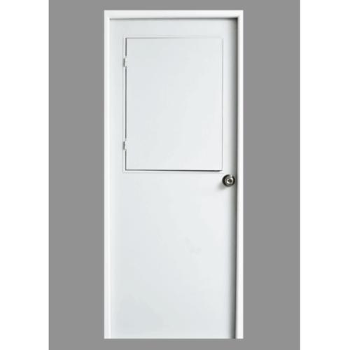 - ประตูเหล็กขนาด 0.80*2.00 ม. (เจาะ 2 ลูกบิด)  ขาว