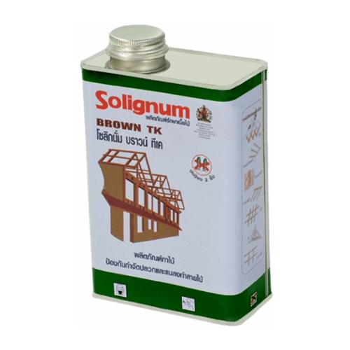 Solignum โซลิกนั่ม บราวน์ทีเค ขนาด 1 ลิตร (ทาไม้สีน้ำตาล)  (ทาไม้สีน้ำตาล)