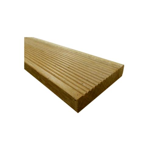 CHALET ไม้พื้นระเบียง เต็งรังแท้ อบ10-12%  Natural ขนาด (1นิ้วx4นิ้วx2.5ม.)