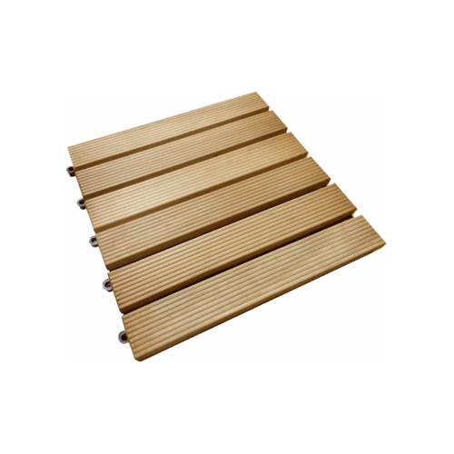- Decking Tile  ไม้เต็งลาว Grade Standard ขนาด(2.5x30x30)cm.