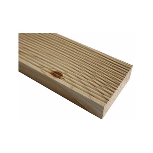 ไม้ระเบียง ไม้สน ลอนไม่เต็ม ขนาด 1x4 นิ้วx3.0  มม. (4แผ่น/แพ็ค) ขาวเหลือง