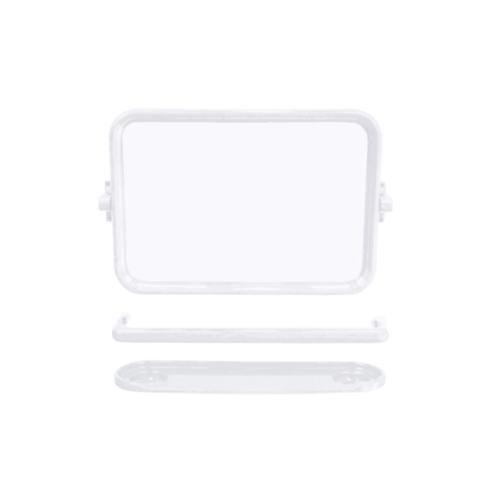 DONMARK ชุดกระจก 3 ชิ้น (เหลี่ยม) DM-800 ขาว