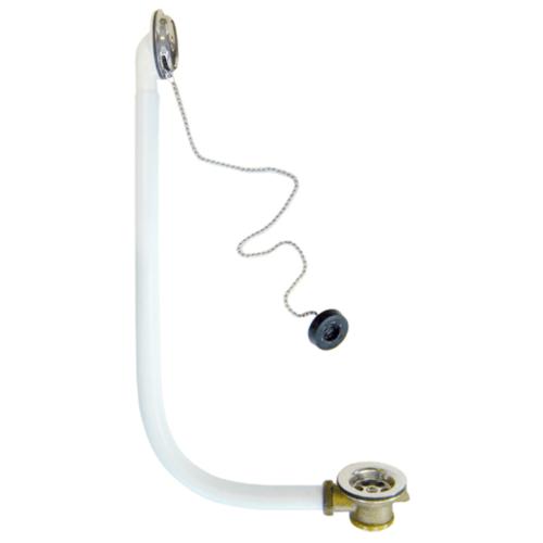 DONMARK ชุดสะดืออ่างอาบน้ำทองเหลืองสายโซ่ 1-1/2' รุ่น DM-K1300 DOMARK  ขาว