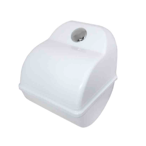 VRH กล่องใส่กระดาษชำระ PCV DM-601 สีขาว DONMARK  ขาว