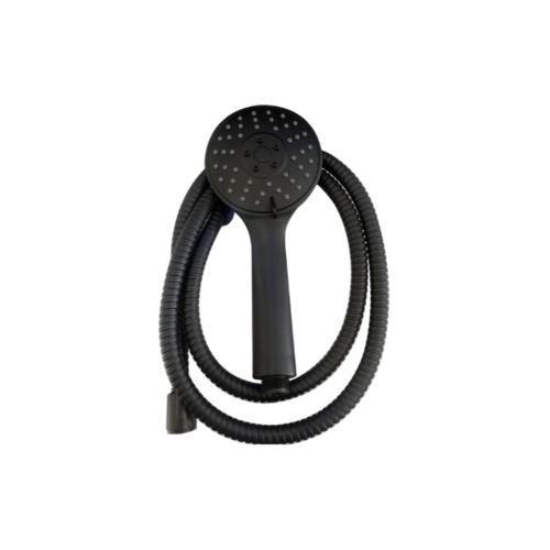 VERNO ชุดฝักบัวสีดำรุ่นปรับน้ำ 3 ระดับ พร้อมสายสแตนเลส 304 New Color VN-11006 สีดำ