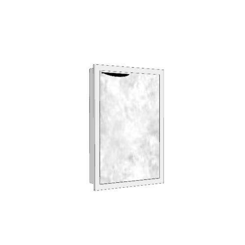 MJ บานซิงค์เดี่ยวทึบตรง  สีหินอ่อนขาว GC-S604 - WM