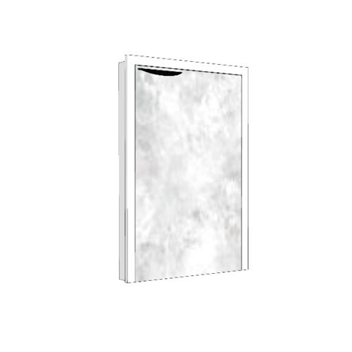 MJ บานซิงค์เดี่ยว  ถังแก๊ส  สีหินอ่อนขาว GC-S7545 -WM