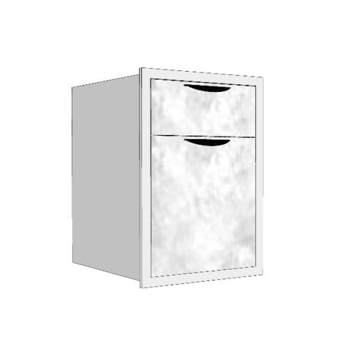 MJ ตู้ลิ้นชัก  2ชั้น  สีหินอ่อนขาว GC-F604 -WM