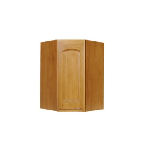 MJ ตู้แขวนเข้ามุมหกเหลี่ยมทึบโค้ง WC8036C-T สีสัก MJ  สัก
