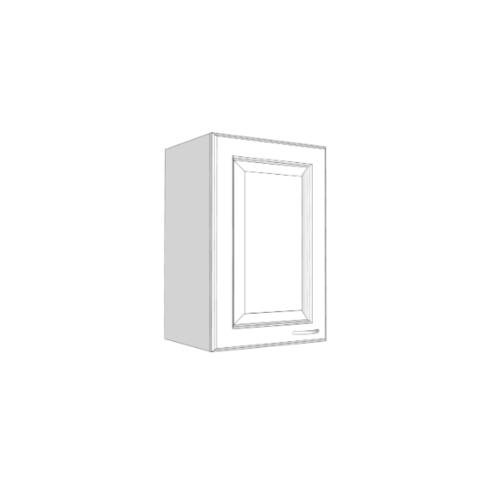 ตู้แขวนบานทึบตรง รหัส W604-W/สีขาว  ขาว