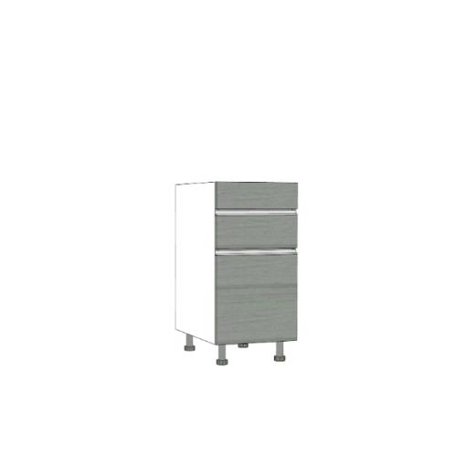 ตู้ตั้งพื้นบานเปิดเดี่ยว-ลิ้นชัก SAV-JSF824-GW สีเทาลายไม้ MJ  เทา