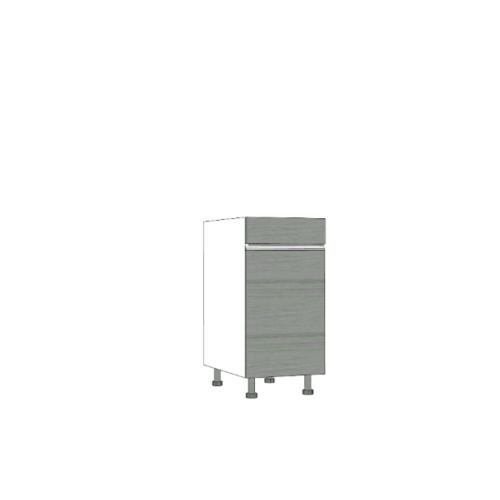 ตู้ตั้งพื้นบานเปิดเดี่ยว SAV-JWS824-GW สีเทาลายไม้ MJ  เทา