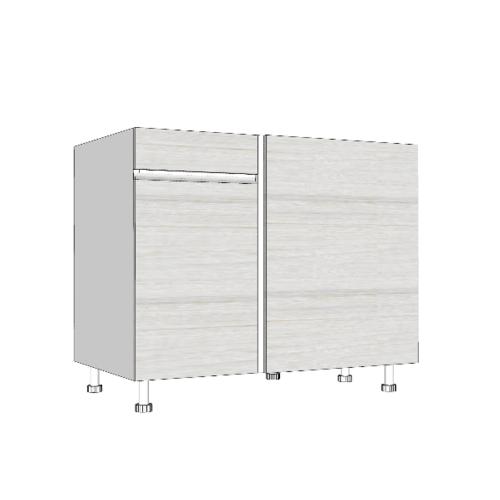MJ ตู้ตั้งพื้นเข้ามุมซ้าย สีขาว SAV-JWC82100L -W สีขาว