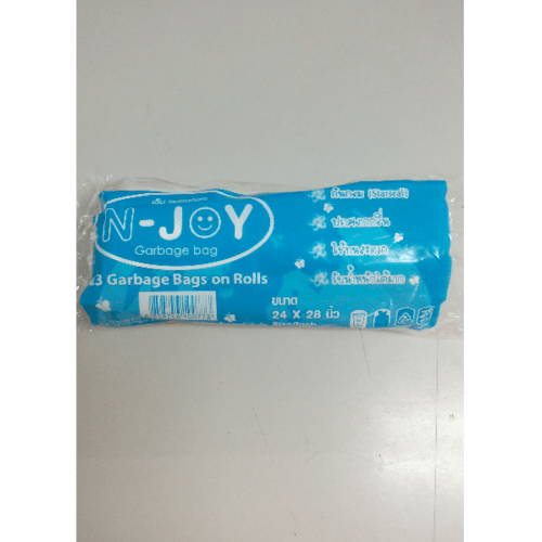 N-JOY ถุงขยะแบบม้วนย่อยสลาย ถุงขยะแบบม้วน ขาว