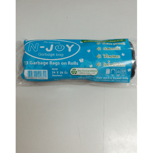 N-JOY ถุงขยะแบบม้วนย่อยสลาย ถุงขยะแบบม้วน ดำ