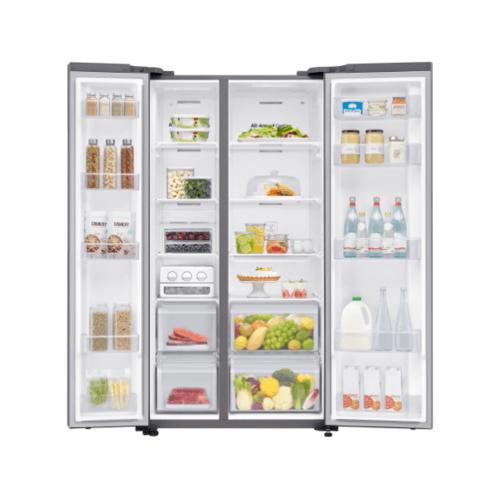 SAMSUNG ตู้เย็น SBS 23.1 คิว  RS62R5001M9/ST สีเทาอ่อน