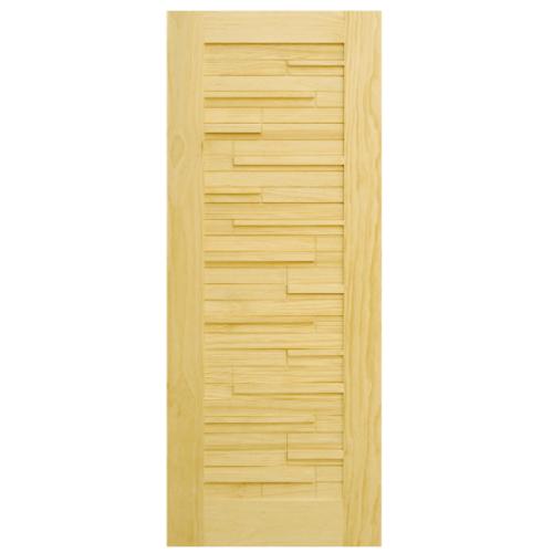 D2D ประตูไม้สนนิวซีแลนด์ ขนาด 90x220 ซม. D2D-501