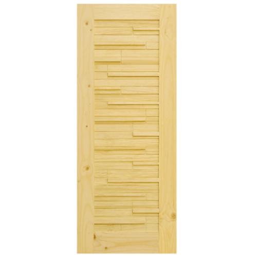 D2D ประตูไม้สนนิวซีแลนด์ ขนาด 90x200 ซม. D2D-112
